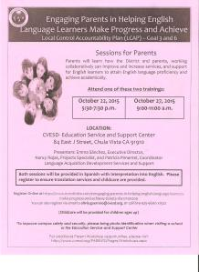 Engaging Parents October 21 and 27,2015