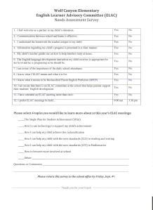 Needs Assesment Survey 2015