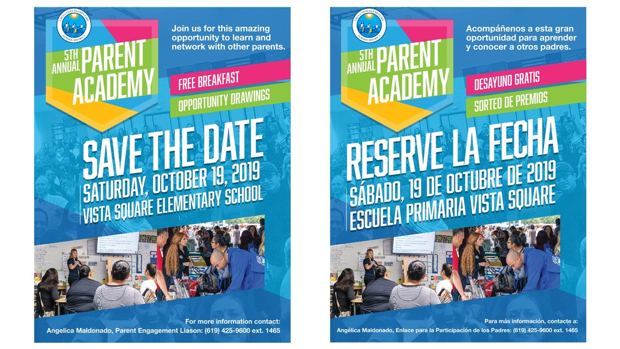 CVESD 5th parent academy flyer