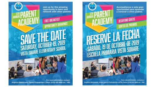 CVESD 5th parent academy flyer